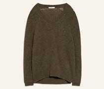 Oversized-Pullover mit Alpaka