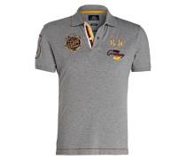 Piqué-Poloshirt JHOSER Slim-Fit - grau