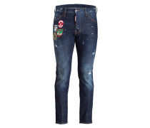 Jeans COOL GUY mit Patches Tapered-Fit