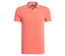 Piqué-Poloshirt Shaped-Fit - rot