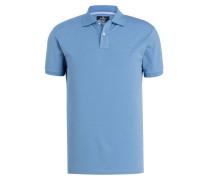 Piqué-Poloshirt Classic-Fit - hellblau