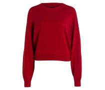 Pullover mit Seidenanteil - rot