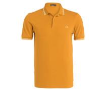 Piqué-Poloshirt - ocker