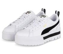 Plateau-Sneaker MAYZE LTH - WEISS/ SCHWARZ