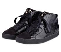 Hightop-Sneaker mit Schmucksteinbesatz