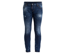 Destroyed-Jeans CLEMENT Slim-Fit - blau