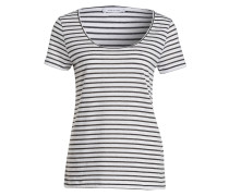 T-Shirt NOBEL - weiss/ schwarz gestreift