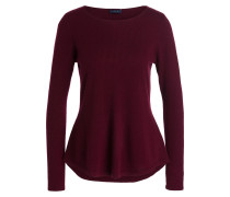 Cashmere-Pullover - weinrot