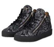 Sneaker KRISS PYTHON - DUNKELGRAU/ WEISS