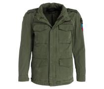 Jacke mit Patches - grün