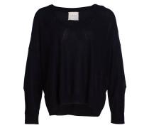 Cashmere/ Seide-Pullover - schwarz