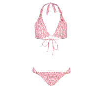 Triangel-Bikini GRENADA - orange/ rosa