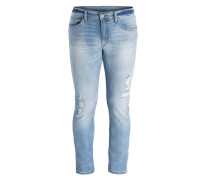 Destroyed-Jeans TIGHT Slim-Fit - blau