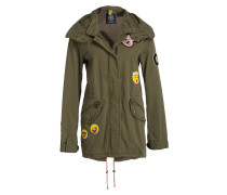 Parka mit Patches - gelb