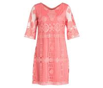 Kleid mit 3/4-Arm - orange