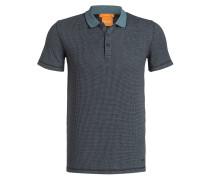 Piqué-Poloshirt POSER Slim-Fit - schwarz