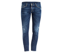 Destroyed-Jeans SLIM Slim-Fit - 470 navy