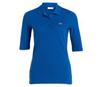 Piqué-Poloshirt mit 3/4-Arm - royal