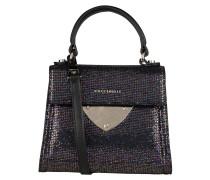 Handtasche - schwarz metallic