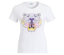 T-Shirt TIGER - weiss/ lila