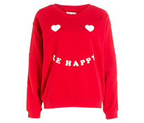 Sweatshirt LE HAPPY - rot