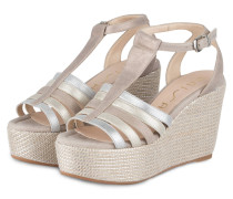 Wedges LOST - taupe/ silber/ gold