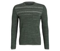 Pullover in Strukturstrick - grün