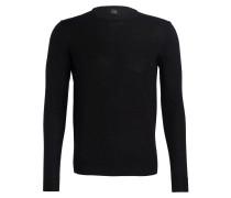 Pullover mit Schurwoll-Anteil - schwarz