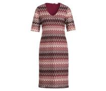 Kleid - offwhite/ burgunder/ bordeaux