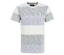 T-Shirt BRALLIO - weiss/ schwarz/ blue
