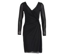Kleid mit perlenbesatz - schwarz