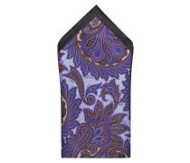 Einstecktuch - violett/ braun