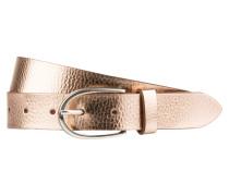 Ledergürtel - rosé metallic