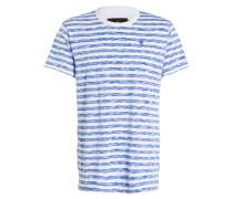 T-Shirt KANTANO - blau/ weiss gestreift