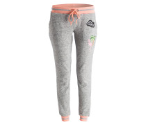 Sweatpants - grau meliert