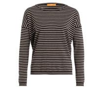 Pullover IKUBANA - schwarz/ ecru gestreift