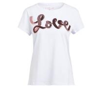 T-Shirt DELINA mit Paillettenbesatz