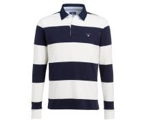 Rugbyshirt - weiss/ navy