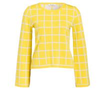 Feinstrickpullover - gelb/ beige
