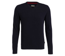 Strickpullover HARROW mit Patches - navy