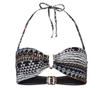Bandeau-Bikini-Top AFRICAN TRIBE - schwarz