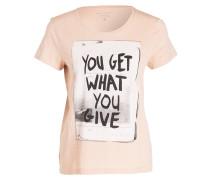 T-Shirt - nude meliert