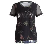 T-Shirt - schwarz/ navy/ grün