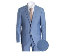Anzug HERBY-BLAYR Slim-Fit - blau meliert
