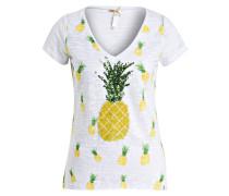 T-Shirt PINACOLADA - weiss/ gelb/ grün
