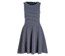 Kleid - navy/ weiss gestreift