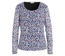Blusenshirt - blau/ weiss/ pink