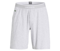 Sleep-Shorts - grau melliert