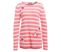 Pullover - rosa/ weiss