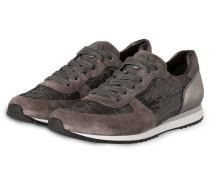 Sneaker mit Pailetten - grau